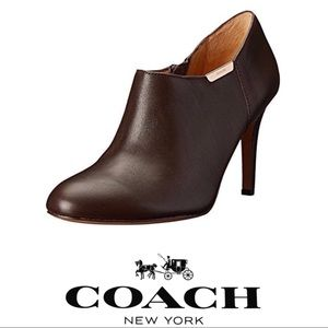 Coach Seneca Leather Ankle Boots - dark brown